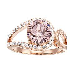Brilliance Vintage Round Ring with Swarovski Crystal