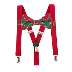 Men's Noel Holiday Bow Tie & Suspenders Set