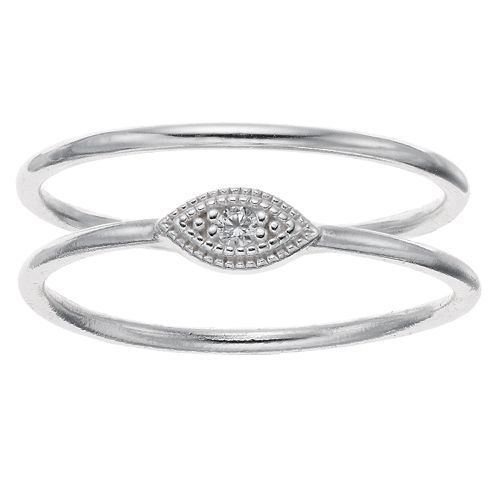love this life Sterling Silver Cubic Zirconia Eye Ring Set