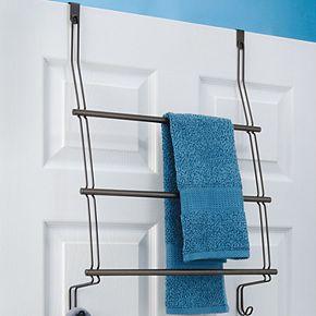 Interdesign Classico Over the Bathroom Shower Door Towel Rack