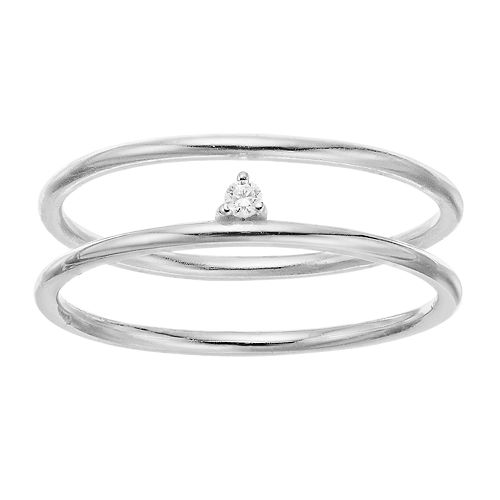 love this life Cubic Zirconia Solitaire Ring Set