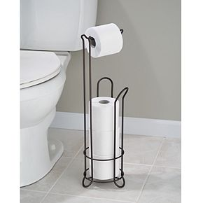 Interdesign Classico Free-Standing Bathroom Toilet Paper Roll Stand