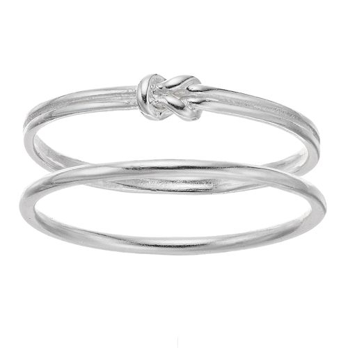 love this life Sterling Silver Knot Ring Set
