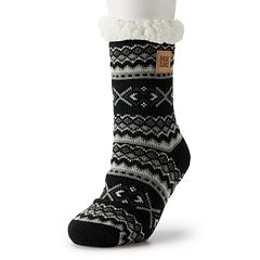 Women's MUK LUKS Patterned Cabin Slipper Socks