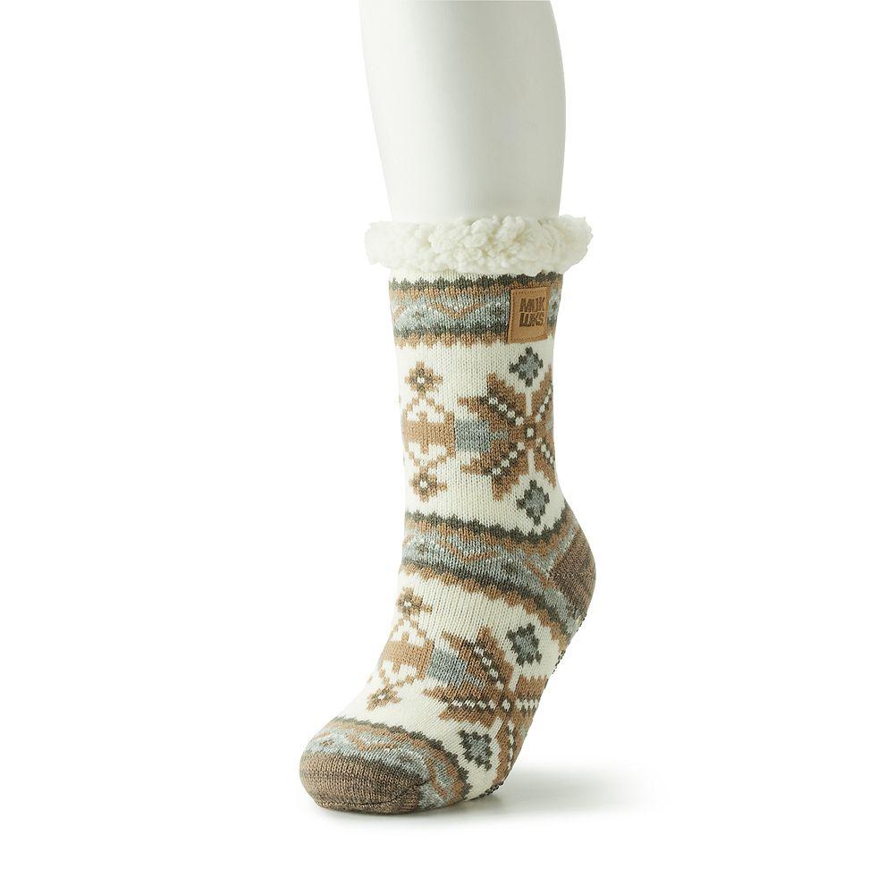 Women's MUK LUKS Patterned Cabin Slipper Socks