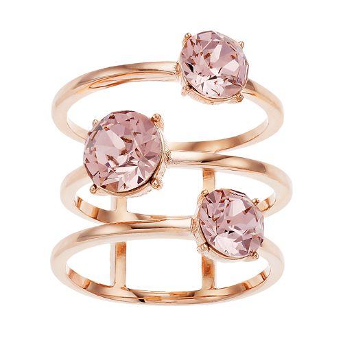 Brilliance 3-Tier Ring with Swarovski Crystal