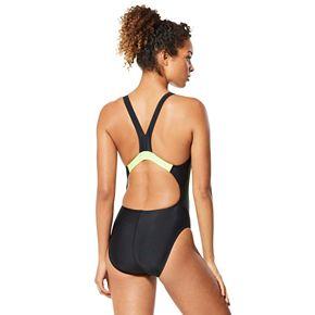 Women's Speedo Quantum Spliced Zip-Front One-Piece Swimsuit