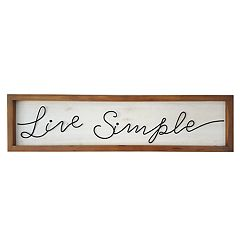SONOMA Goods for Life™ 'Live Simple' Wall Decor