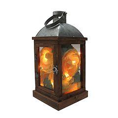 SONOMA Goods for Life™ Farmhouse Light-Up Artificial Flower Lantern