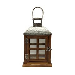 SONOMA Goods for Life™ Wood & Galvanized Metal Lantern
