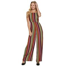 Juniors' Love, Fire Printed Jumpsuit