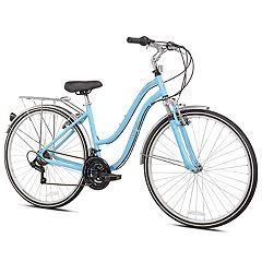 Pedal Chic 700C Invigorate Hybrid Bike - Light Blue Size 14