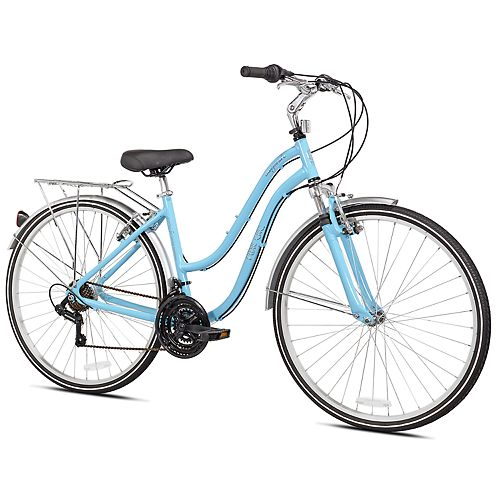 Pedal Chic 700C Invigorate Hybrid Bike - Light Blue Size 18