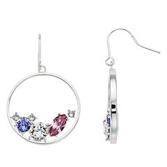 Brilliance Hoop Earrings with Swarovski Crystals