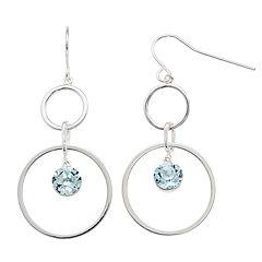 Brilliance Swarovski Crystal Double Hoop Earrings