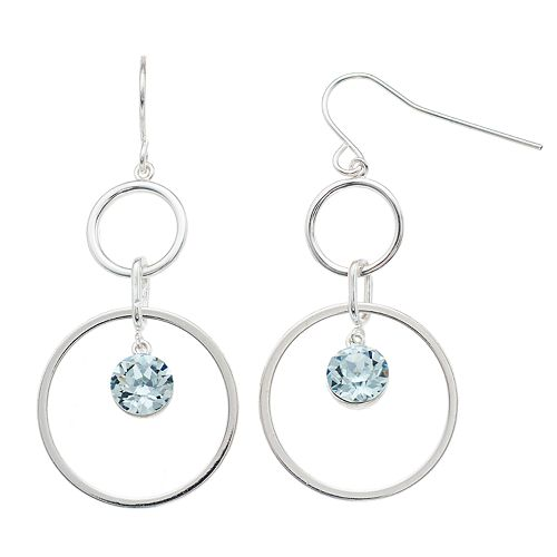 Brilliance Double Hoop Earrings with Swarovski Crystals