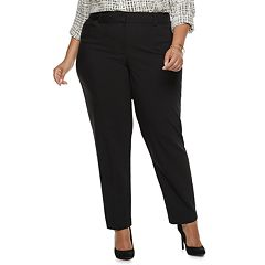 Plus Size Apt. 9® Torie Midrise Curvy Straight-Leg Dress Pants