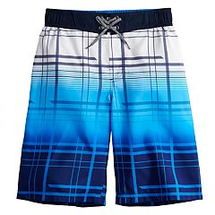 Boys 8-20 ZeroXposur Tide Plaid Swim Trunks