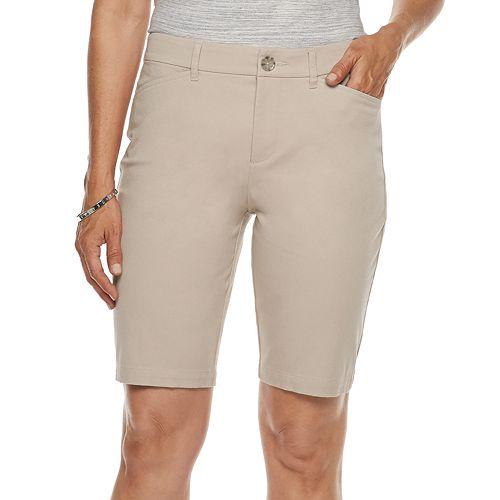 Women's Croft & Barrow® Classic Stretch Bermuda Shorts