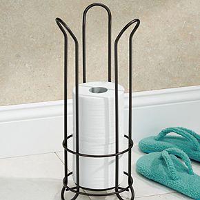 Interdesign Classico Tulip Free-Standing Bathroom Toilet Paper Roll Reserve