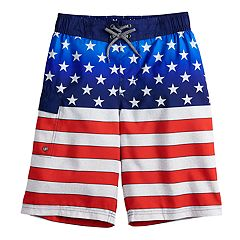 Boys 8-20 ZeroXposur Americana Swim Trunks