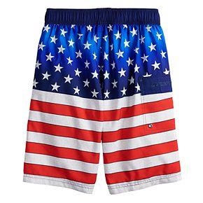 Boys 8-20 ZeroXposur Americana Swim Trunks