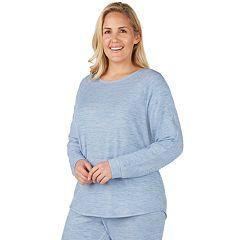 Plus Size Cuddl Duds Crewneck Pajama Tee