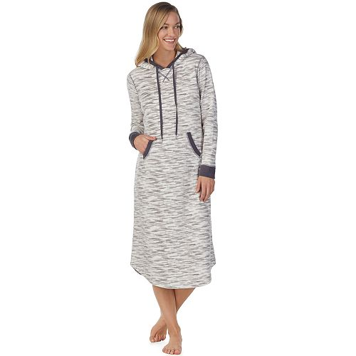 Women's Cuddl Duds Hooded Fleece Sleepshirt
