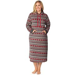 Plus Size Cuddl Duds Hooded Fleece Sleepshirt