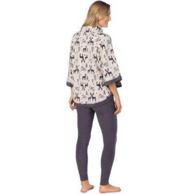 Women's Cuddl Duds Poncho & Leggings Pajama Set