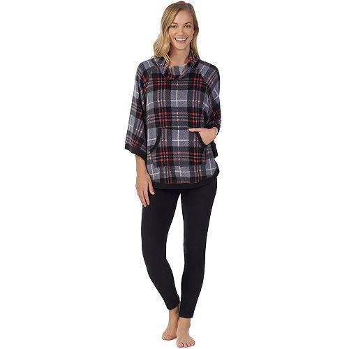 Women's Cuddl Duds Poncho & Leggings Pajama Set