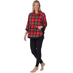 98ea7d768377f Women's Cuddl Duds Poncho & Leggings Pajama Set. Purple Fairisle Red Black  Plaid ...
