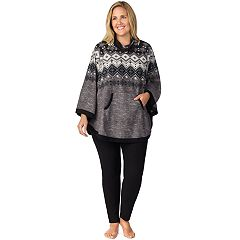 Plus Size Cuddl Duds Poncho & Leggings Pajama Set