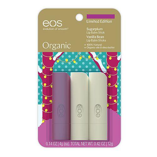 eos Organic 3-Pack Lip Balm Stick