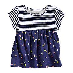 Baby Girl Jumping Beans® Printed Babydoll Top