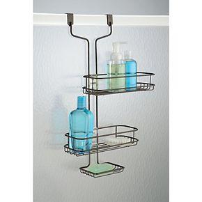 Interdesign Linea Adjustable Bathroom Over the Shower Door Caddy