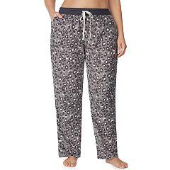 Plus Size Cuddl Duds Printed Fleece Pajama Pants
