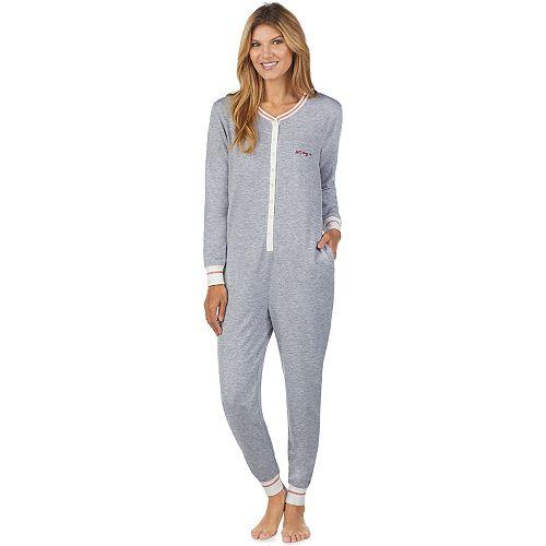 Women's Cuddl Duds Printed One-Piece Pajamas