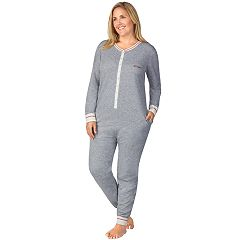 Plus Size Cuddl Duds Printed One-Piece Pajamas