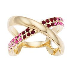 Brilliance Ombre X Ring with Swarovski Crystals