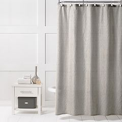 Saturday Knight, Ltd. Neutral Stripe Shower Curtain