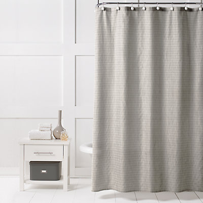 Saturday Knight, Ltd. Neutral Stripe Shower Curtain