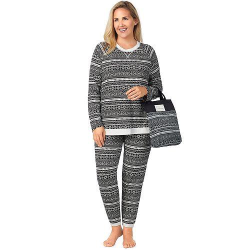 2889589d2d Plus Size Cuddl Duds Pajamas-in-a-Bag Pajama Set
