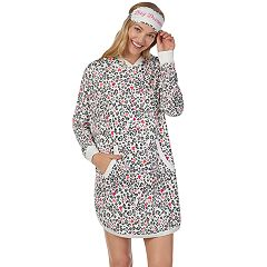 Women's Cuddl Duds Hooded Sleepshirt & Eye Mask