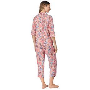 Women's Cuddl Duds 3-piece Printed Pajama Set