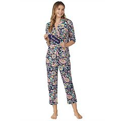 Women's Cuddl Duds 3-piece Printed Pajama Set