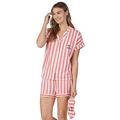 0b54ddf534 Women's Cuddl Duds 3-piece Printed Shirt & Shorts Pajama Set