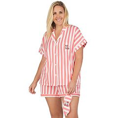 Plus Size Cuddl Duds 3-piece Printed Shirt & Shorts Pajama Set