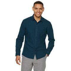 Men's Marc Anthony Luxury+ Slim-Fit Button-Down Shirt
