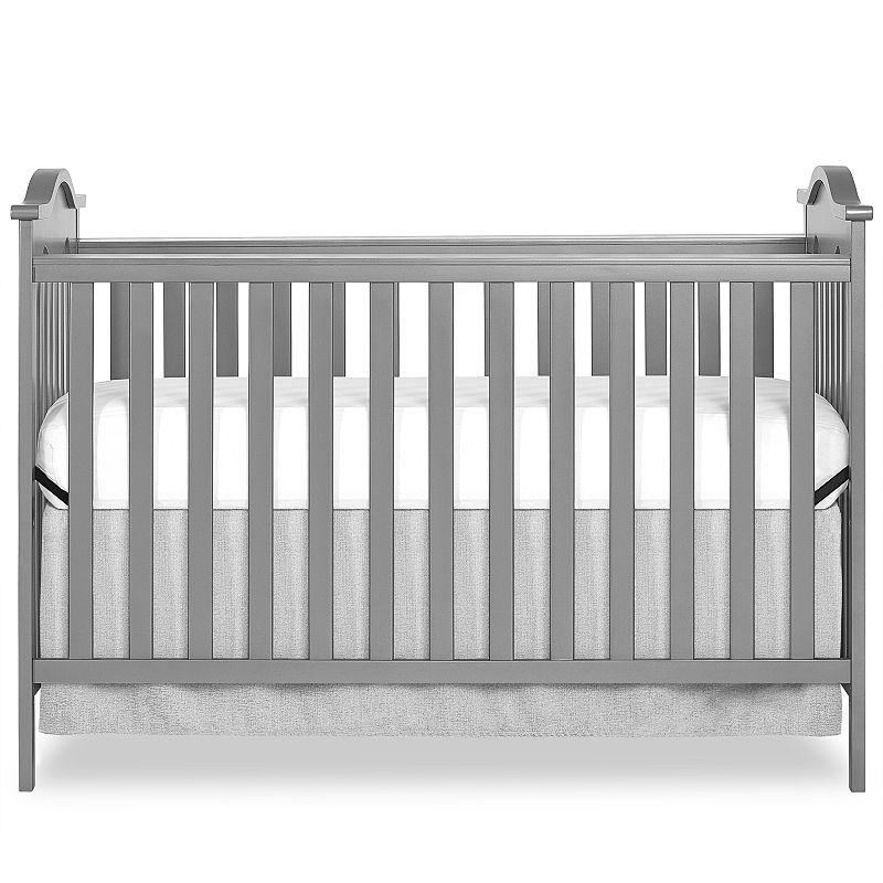 Dream On Me Bella Rose Convertible Crib in Steel Grey